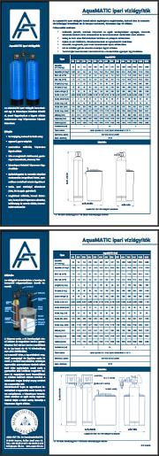 AQUAMATIC vízlágyító berendezések letölthető termékadatlapja